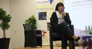 Isabelle Prianon, directrice de l&rsquo;eurodistrict SaarMoselle<p>Marier la Sarre et la Moselle</p>